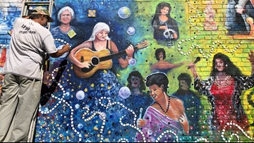 Artist's mural honors late wife and influential Tampa women