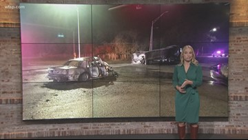 1 person dead, another injured in fiery Mulberry crash