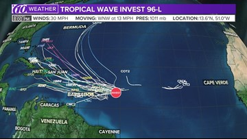 Track Invest 96-L: Spaghetti models, cone of uncertainty and more