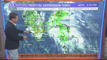 Tropical Depression Three forms in the Bahamas | 10News WTSP