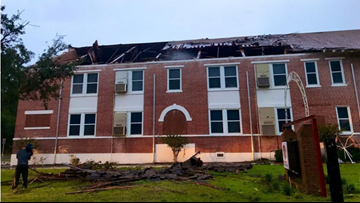 Classes canceled at Kathleen Middle School after EF-2 tornado damages building