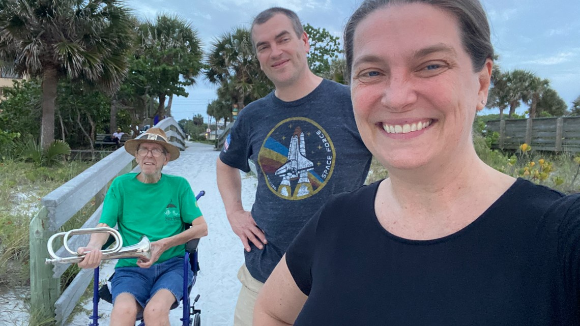 Veteran known for playing 'Taps' at sunset leaves Florida after health problems