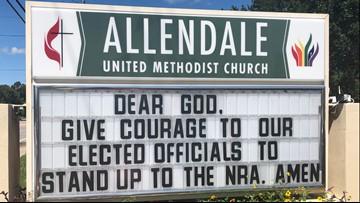 Church sends clear message after bullet crashes through preschool window
