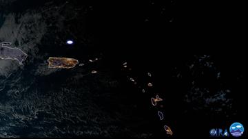 Satellite captures meteor streaking over Puerto Rico