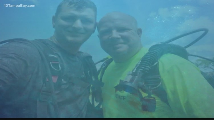 Florida friends battle veteran suicide rates with free scuba diving lessons