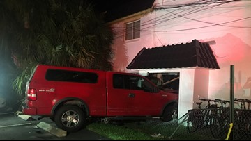 Truck smashes into Clearwater building, knocks out power
