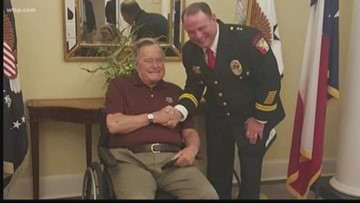 Former Secret Service agent talks of friendship with George H.W. Bush
