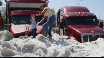 Wow Moments: Hail storm dumps 6 feet of ice on Mexico town
