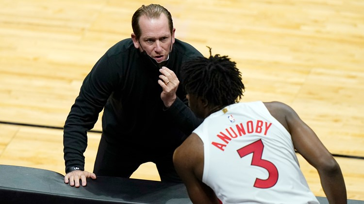 6 Raptors coaches, including head coach, sidelined by COVID-19 protocols