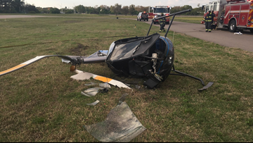 2 people injured when helicopter crashes in Clearwater