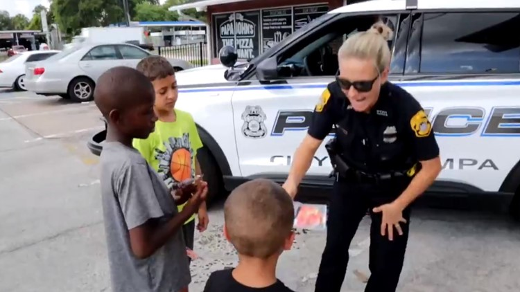Tampa police giving 'citations' for free pizza to kids caught doing good deeds