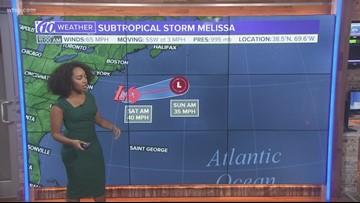 Subtropical Storm Melissa forms off coast of eastern U.S.