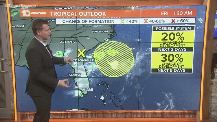NHC monitoring one area of potential development