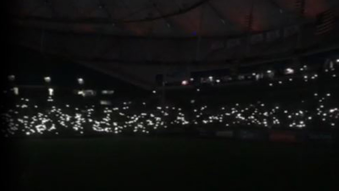 Power outage delays Rays game at Tropicana Field