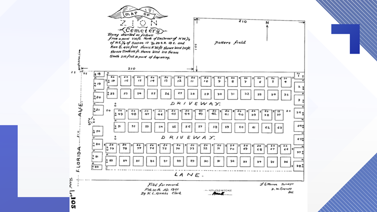 Zion Cemetery map