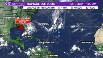 Nestor downgraded to Post Tropical Low Pressure System