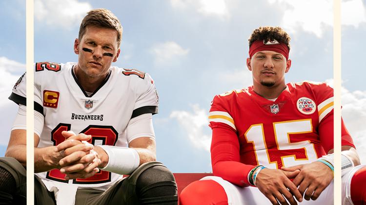 Tom Brady, Patrick Mahomes share 'Madden NFL 22' cover