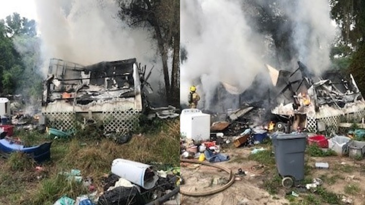 Man loses dog and house in fire, Hernando fire rescue says