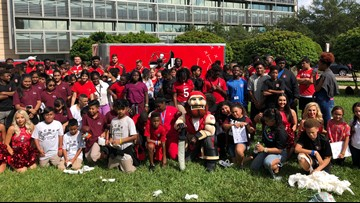 Tampa Bay Buccaneers team up with the Moffitt Cancer Center for a special program