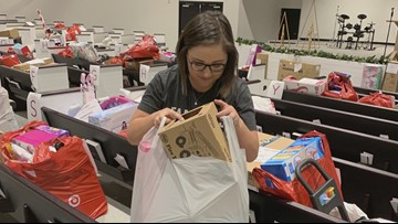 Tampa mom collects presents for foster children