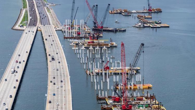 Up to Speed: Crews make progress on building new Howard Frankland Bridge