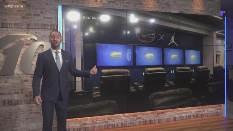 Florida Gators unveil bright, new $1.5 million locker room | 10News WTSP
