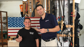 Frank's Pens, made by Pasco boy, send veterans to college