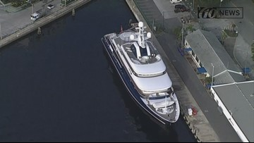 Luxury yacht docked in St. Pete