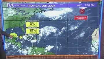 Tracking the Tropics: Lorenzo turns post-tropical and only a 10 percent chance of development for a disturbance