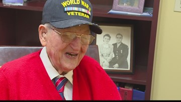 WWII hero celebrates his 100th birthday