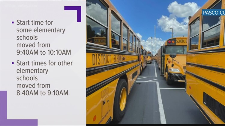 10:10 a.m. start time for elementary schools proposed in Pasco County