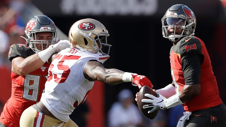 Jameis Winston throws 3 picks in Bucs' 31-17 loss to the 49ers