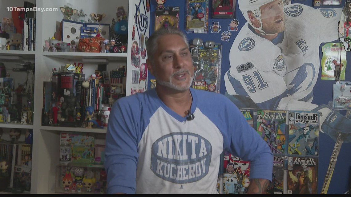 Lightning superfan converts his garage into Bolts collectible showcase