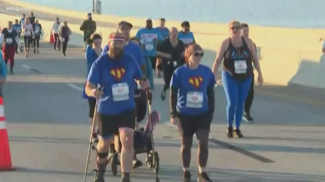 Soldier does Skyway 10K race 8 months after being shot during deployment