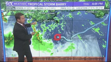 5 p.m. update on Tropical Storm Barry