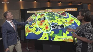 How Tropical Depression Willa will and won't impact the Tampa Bay area forecast