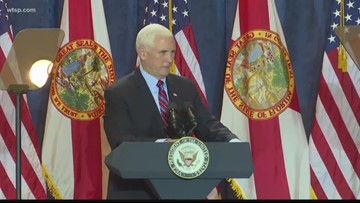 VP Mike Pence campaigns in Tampa Bay