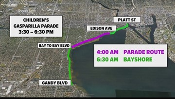 Here are the roads that will be closed for Gasparilla