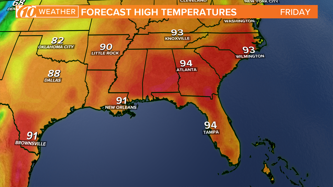 May heat wave incoming for Memorial Day weekend