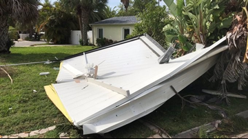 Possible tornado damages property, brings down branches in Madeira Beach