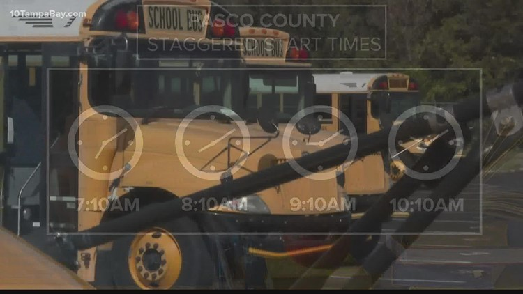 Pasco schools consider adjusting start times to accommodate bus driver shortage