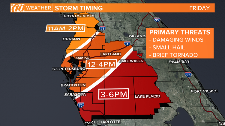 Severe weather threat storm timing 10weather 041919