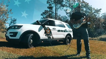 Deputy cranks up his inner Hendrix to honor veterans