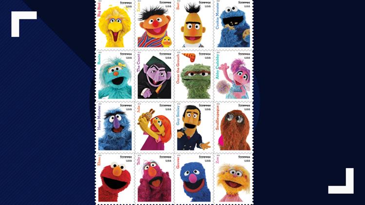 New Sesame Street stamps USPS 031519