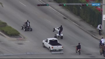 Riders hit Miami-area streets for 'dangerous' 'Wheels Up, Guns Down' event