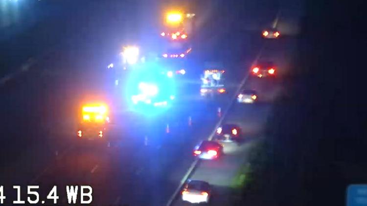 Crashes slow traffic on westbound I-4
