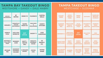 Tampa Bay Takeout Bingo launched to support eating local during coronavirus pandemic