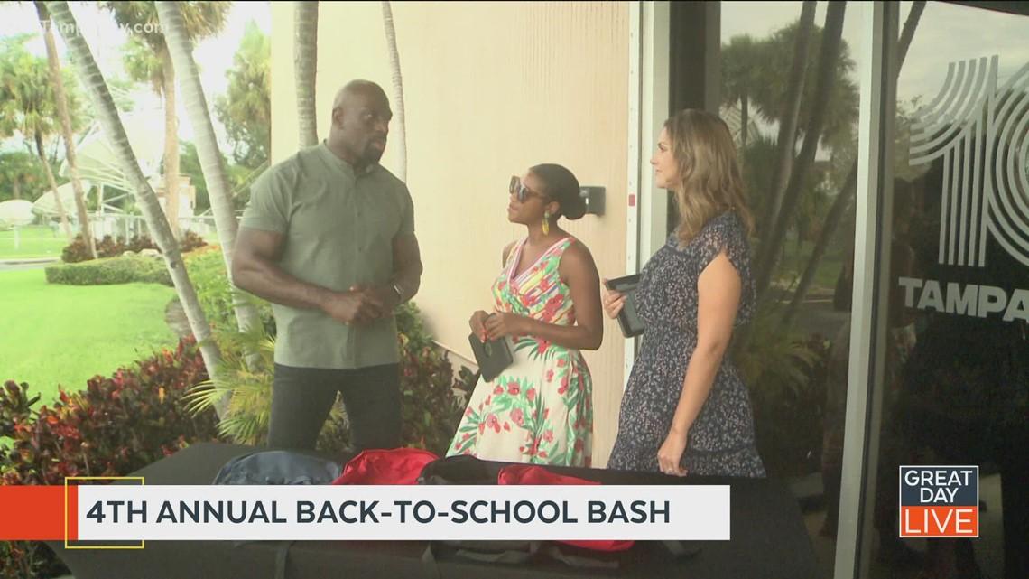 WWE star Titus O'Neil 4th annual Back-To-School Bash