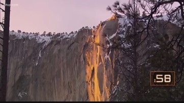Explanation of Yosemite National Park's 'firefall'