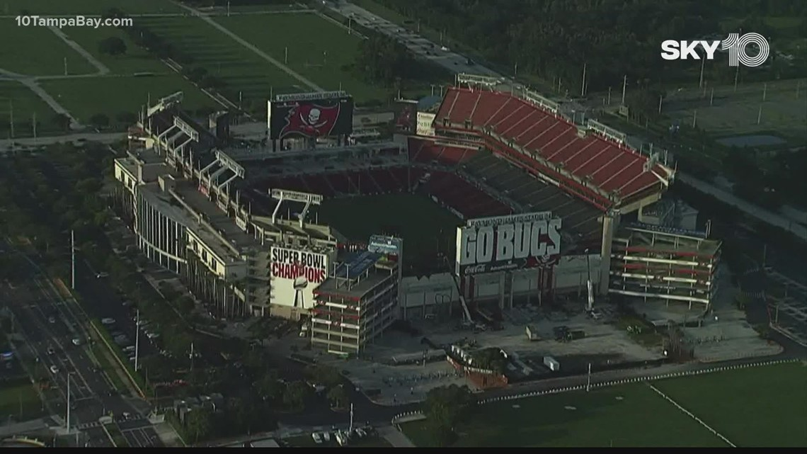 Bucs relax COVID guidelines ahead of opening day at Raymond James Stadium